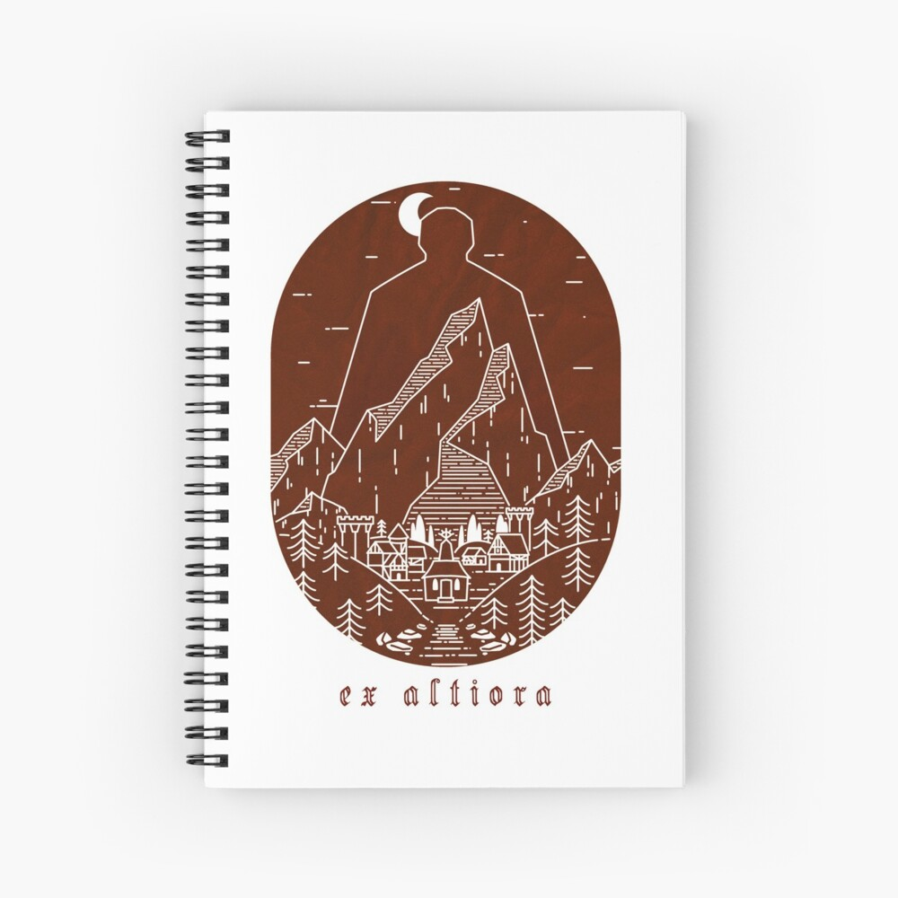 Ex Altiora Cover Spiral Notebook