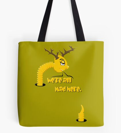 Worm with Horns VRS2 Tote Bag
