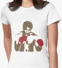 Muhammad Ali Inspired Art Made of Butterflies and Bees Womens Fitted T-Shirt