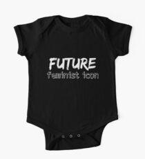 Future Feminist Icon - White One Piece - Short Sleeve