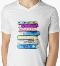 Stack of Books Men's V-Neck T-Shirt