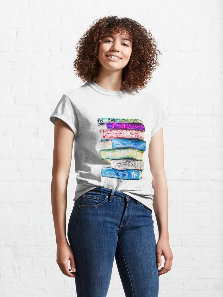 Alternate view of Stack of Books Classic T-Shirt
