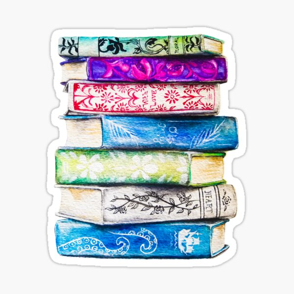 Stapel Bücher Sticker
