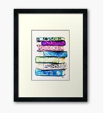 Stack of Books Framed Print
