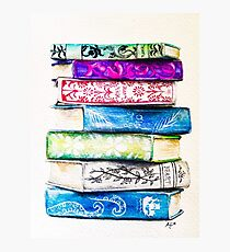 Stack of Books Photographic Print