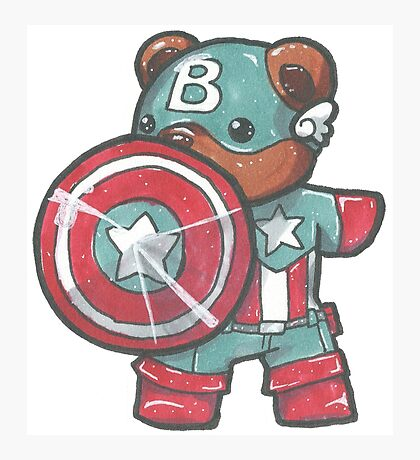 Captain A-bear-ica Photographic Print