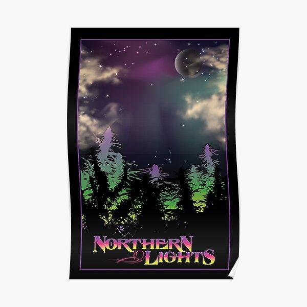 Northern Lights Black light  Poster