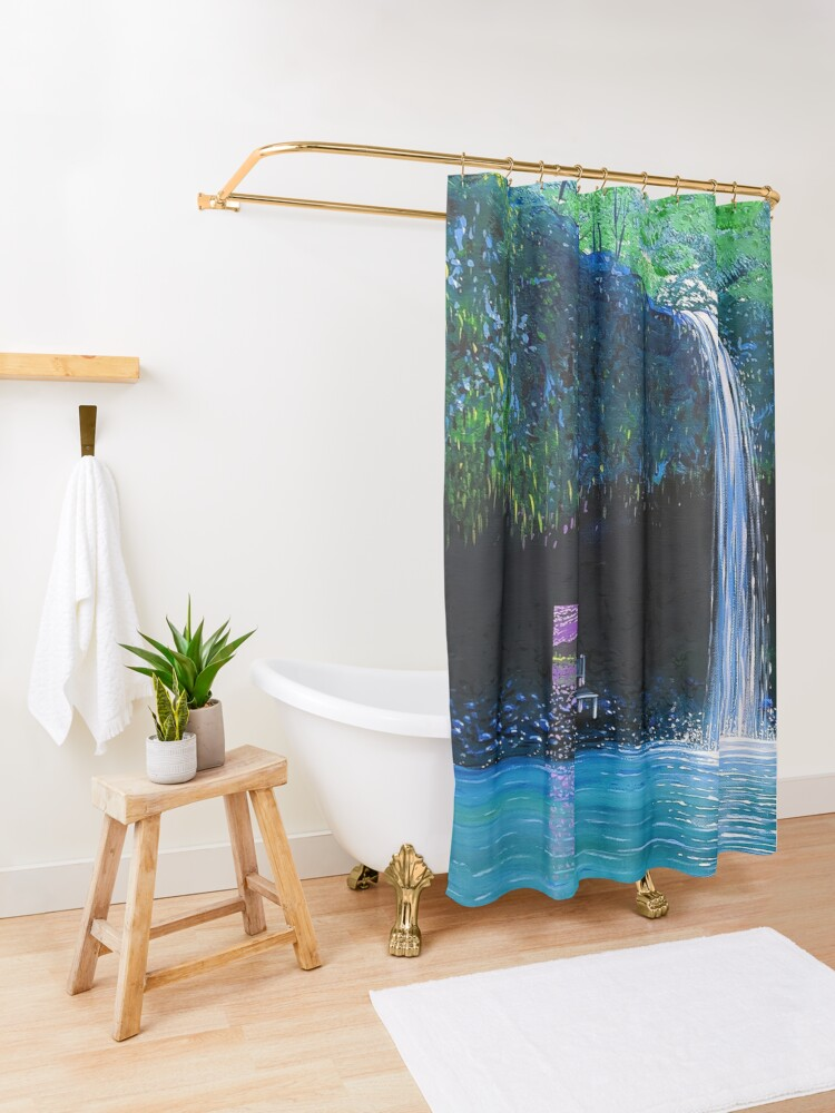 Alternate view of The Spot Shower Curtain