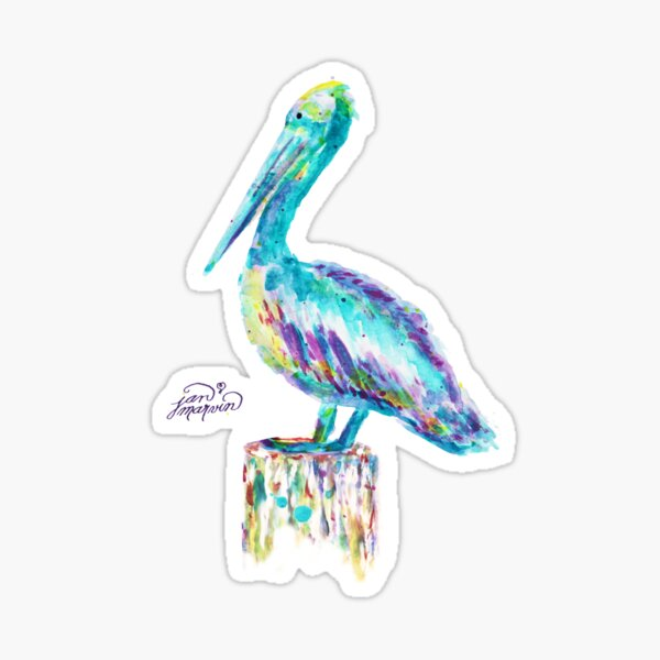 Pelican watercolor Sticker