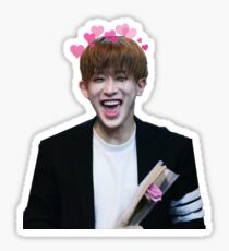 Wonho + Hearts Sticker