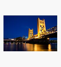 Sacramento Bridge Photographic Print