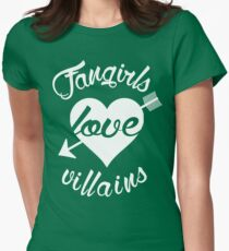 Fangirls love villains. [ WHITE ] T-Shirt