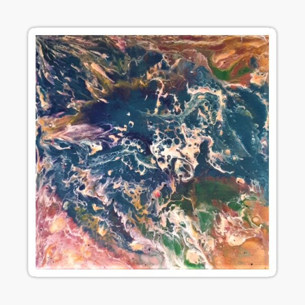 Ocean Pour Art Sticker