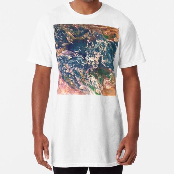 Ocean Pour Art Long T-Shirt