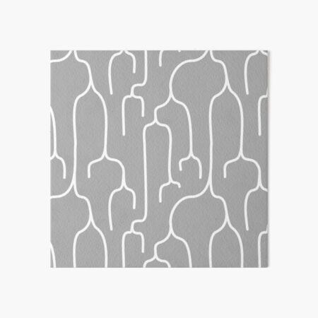 Abstract Phylogenetic Tree White on Grey Art Board Print
