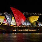 Night Sails - Sydney Opera House - Sydney Vivid Festival by Bryan Freeman