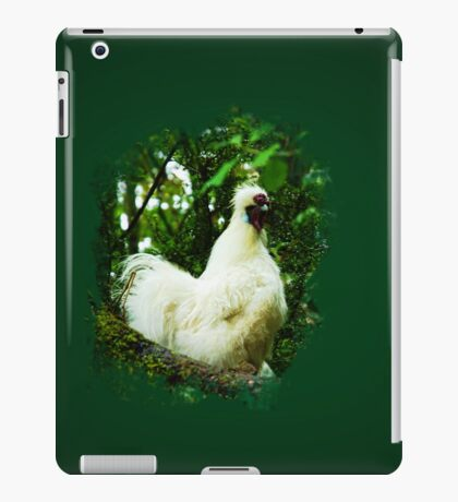 White Silkie Rooster VRS2 iPad Case/Skin
