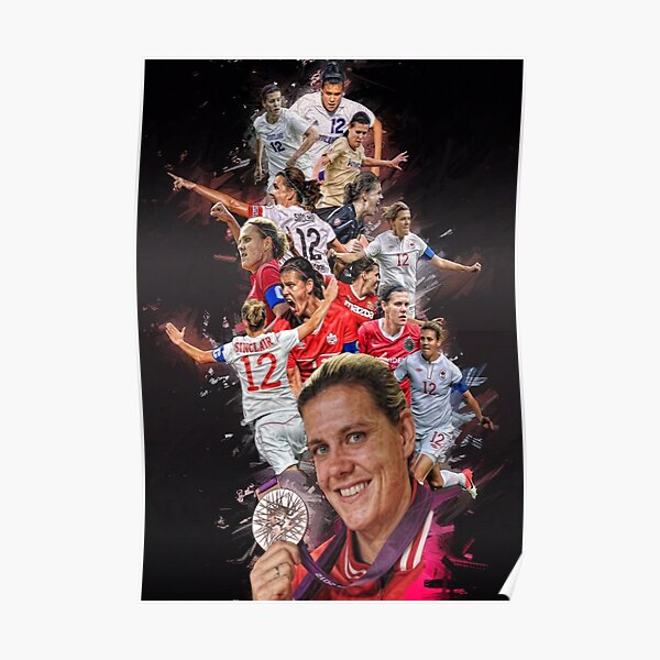Christine Sinclair From University of Portland to Portland Thorns + CANWNT Poster