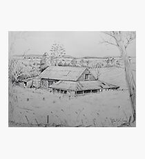 Wool shed , Spring plains , Mia Mia  Photographic Print
