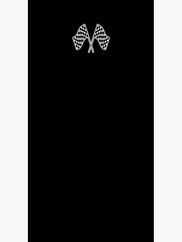 Checker Flag. Race. Checkered Flag. Win. Winner. On Black. by TOMSREDBUBBLE