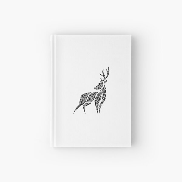 Deer (Black) [Small] Hardcover Journal