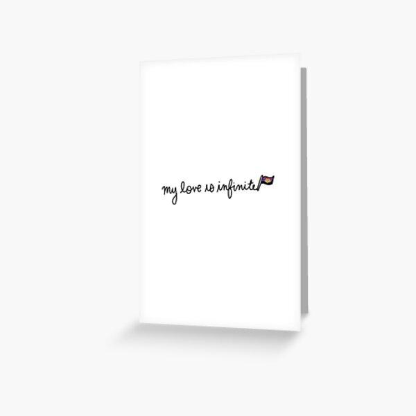 My Love is Infinite - Polyamory Greeting Card