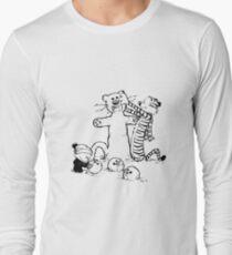 calvin and hobbes b N w T-Shirt