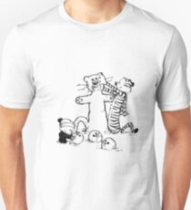 calvin and hobbes b N w T-Shirt
