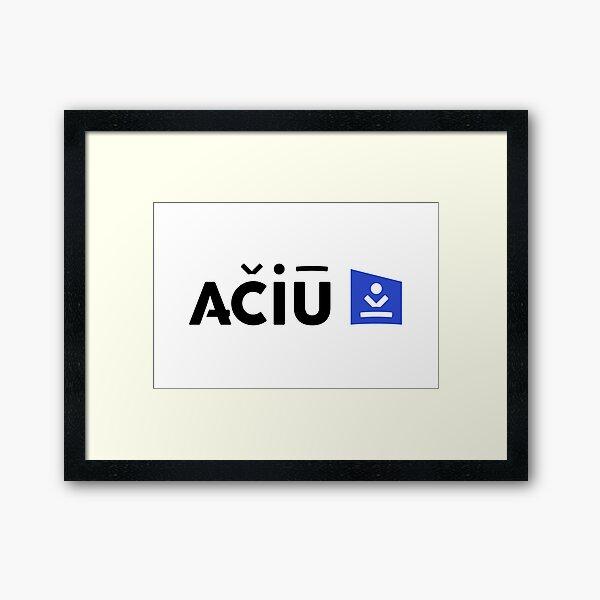 Thank you - Aciu Travel Logo Original Framed Art Print