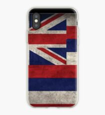 Hawaii State Flag - Aged (Horizontal) iPhone Case