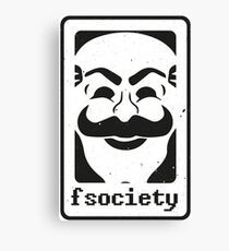 Fsociety Canvas Print