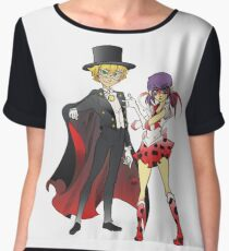 Sailor Lady x Tuxedo Noir  Women's Chiffon Top