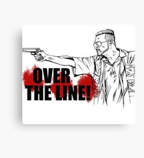 Over The Line! Canvas Print
