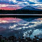 Elk Lake Sunrise 1 by Richard Bozarth