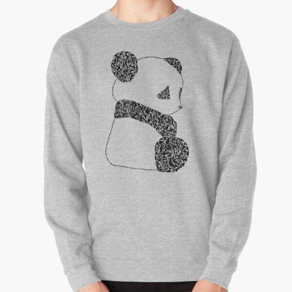 Panda (Black) [Large] Pullover Sweatshirt