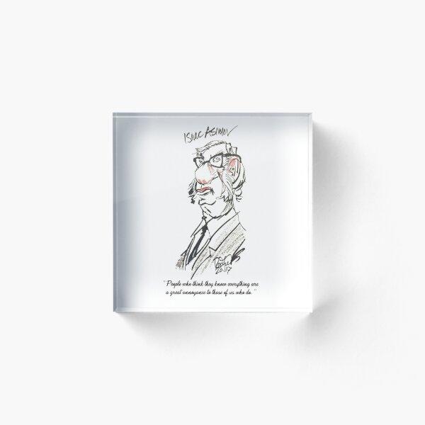 """Isaac Asimov"" by Mark Redfield Acrylic Block"