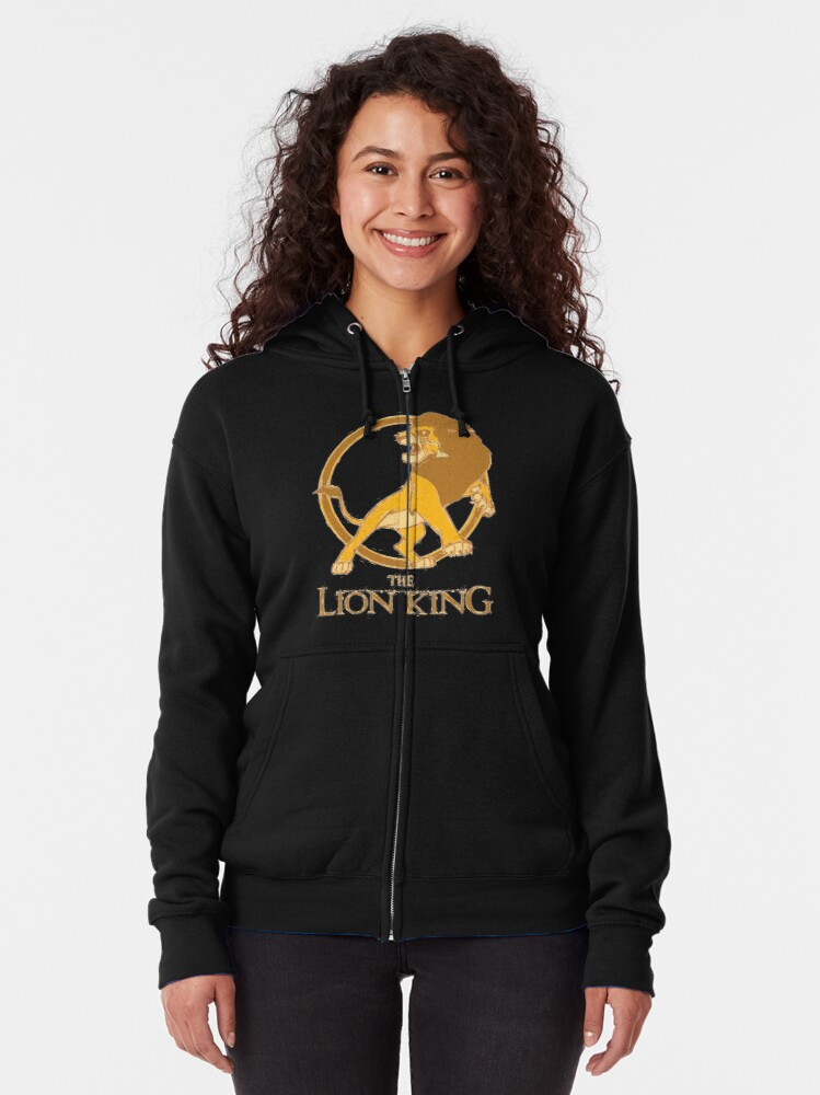 The Lion King Zipped Hoodie By Nsissyfour Redbubble