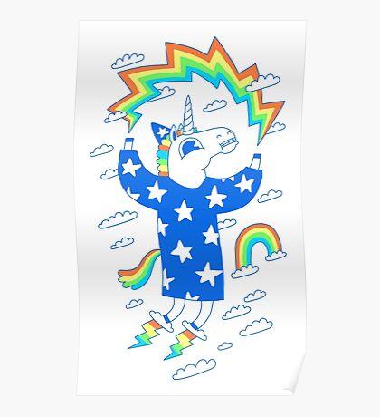 Unicorn Wizard Poster