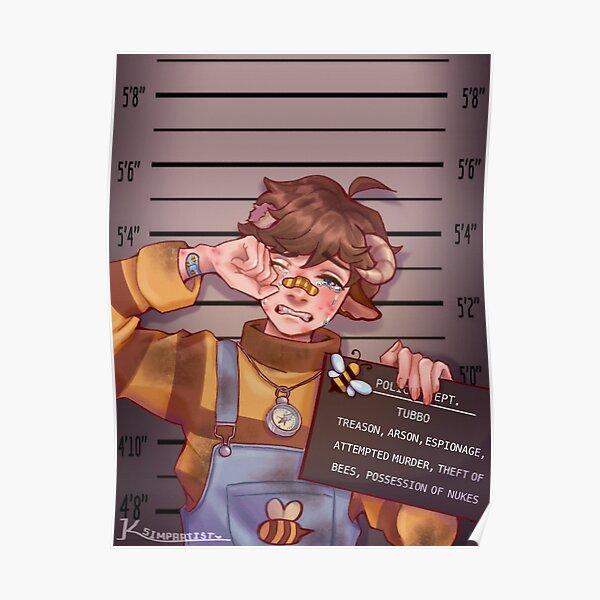 Tubbo Mugshot Poster