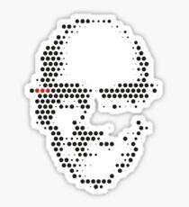 Foucault in Dots Sticker