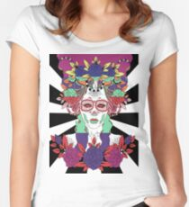 Colorful Day of the Dead Women Women's Fitted Scoop T-Shirt