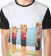 Geelong Lifeguards, Victoria, Australia Graphic T-Shirt