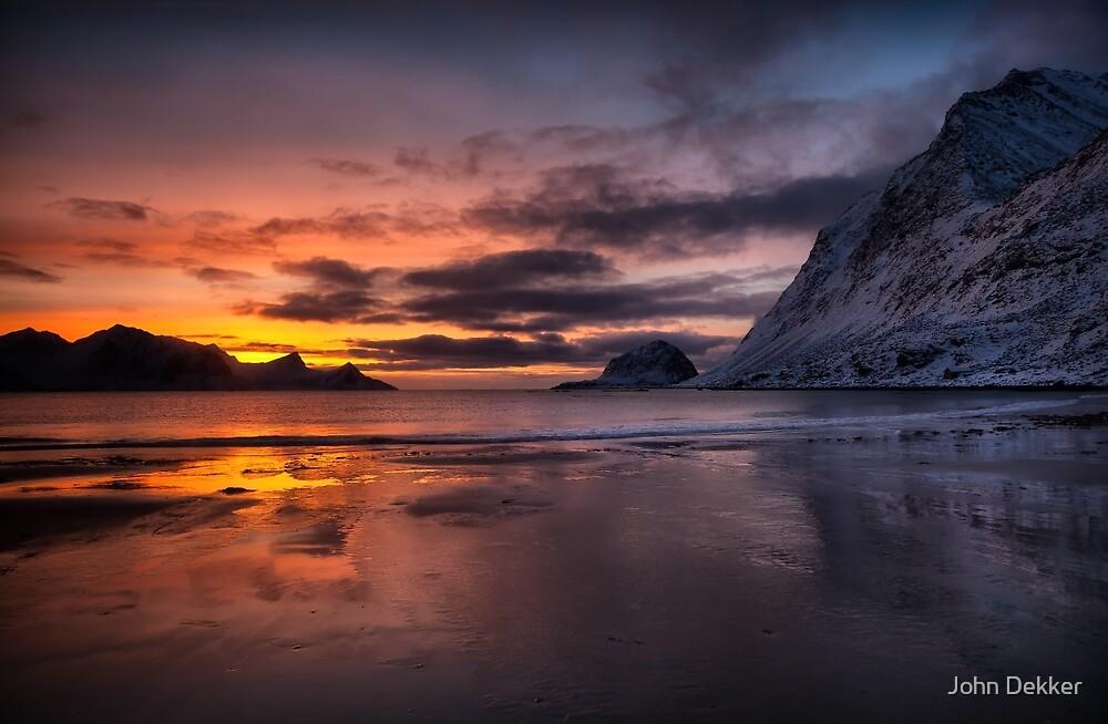 Snow, Sand, Sea and Sunset by John Dekker