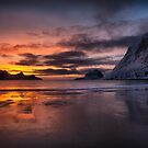 Snow, Sand, Sea and Sunset by John Dekker