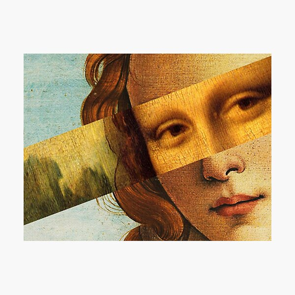 Botticelli's Venus and Mona Lisa Photographic Print