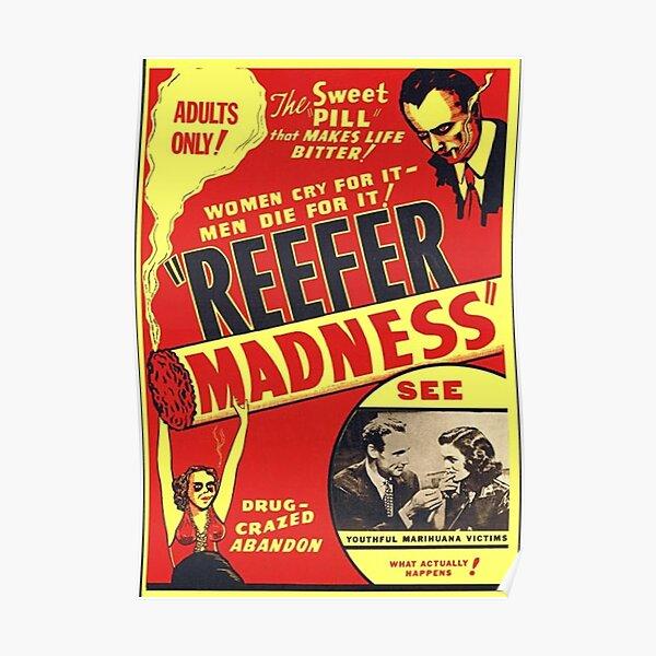 Marihuana Anti Drug Propaganda Movie Poster Marijuana Wall Art Weed Pot Dope