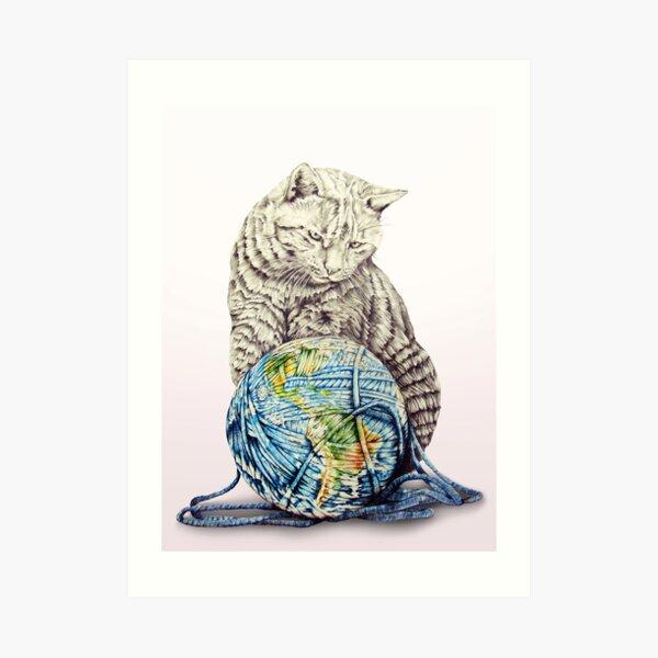 Our feline deity shows restraint Art Print