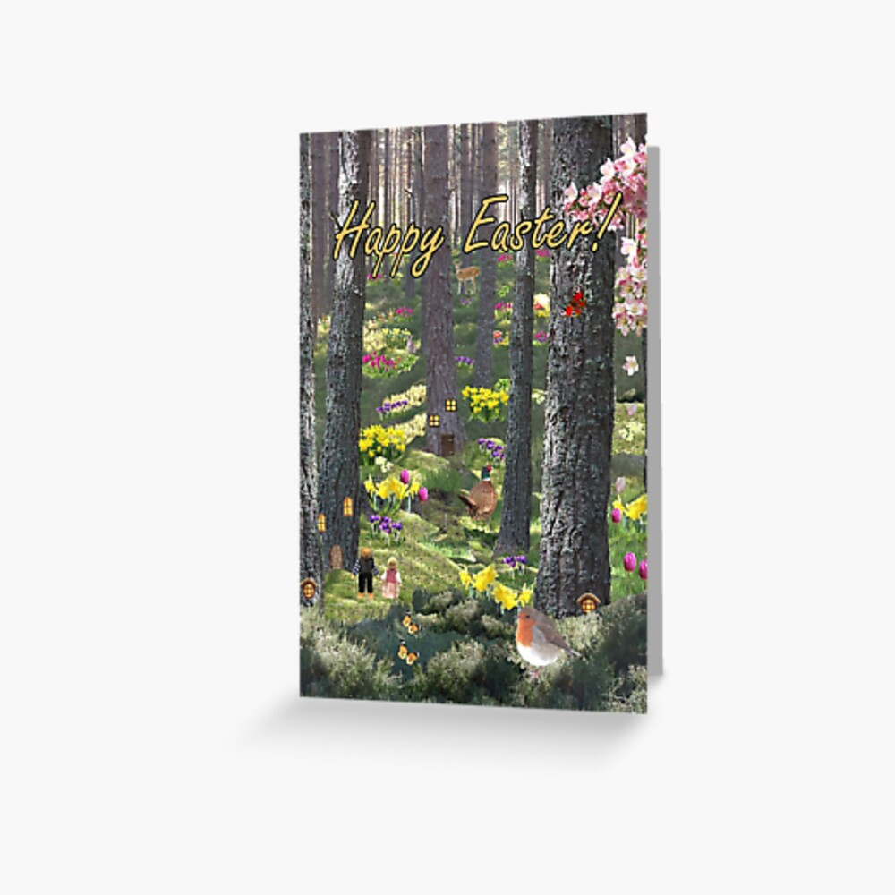 Woodland in Spring - Easter Card Greeting Card