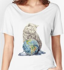 Our feline deity shows restraint Women's Relaxed Fit T-Shirt