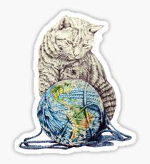 Our feline deity shows restraint Sticker